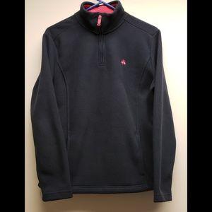 Brooks Brothers 346 Half Zip Pullover Fleece Black